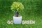 Go green conceptual — Stock Photo