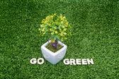Go green conceptual — Стоковое фото