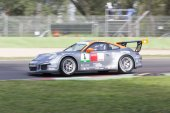 Porsche Carrera Cup Italia car racing  — Stockfoto