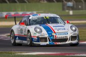 Porsche Carrera Cup Italia car racing — Stock Photo