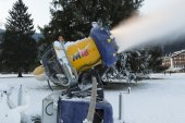 Snow cannon close up — Stock Photo