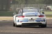 Porsche Carrera Cup Italia car racing  — Stockfoto