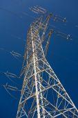 Electricity pylon - Stock image — Stock Photo