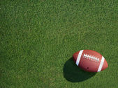 Football on Sports Turf Grass Angled Right — Stock Photo