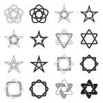 Celtic Knots Stars Patterns Set — Stock Vector #58662785