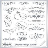 Calligraphic Decorative Design Elements — Stock Vector