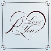 Calligraphic Heart for Valentine — Vettoriale Stock