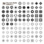Collection of 96 Decorative Bullets — Stock Vector