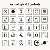 Astrological Symbols — Stock Vector