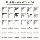 Set of Celtic Corners and Frames — Stock Vector