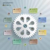 Cogwheel Abstract Modern Infographics Background — Vector de stock