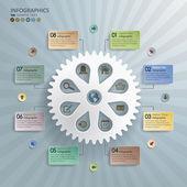 Cogwheel Abstract Modern Infographics Background — Cтоковый вектор