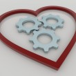Heart and Gears Background Concept — Stock Photo #71263057