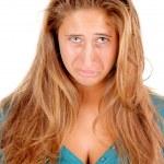 Girl doing facial expression — Stock Photo #61323497