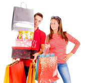 Par shopping — Stockfoto