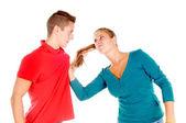 Couple having a fight — Stock Photo