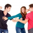 Teenage boys and girl — Stock Photo #61486867