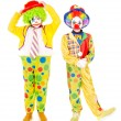 Little girls dressed as a clowns — Stock Photo #65613985