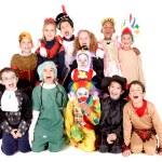 Kids in costumes on halloween — Stock Photo #65614455