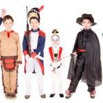 Kids in costumes on halloween — Stock Photo #65615125