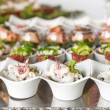 Assortment Appetizers and finger food — Stock fotografie #70377319