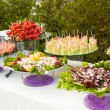 Assortment Appetizers and finger food — Fotografia Stock  #70377679