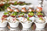 Assortment Appetizers and finger food — Stock Photo