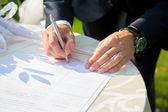Bridal signature — Stock Photo