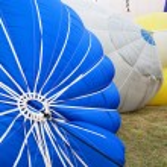 Italy, Mondov-January 06,2013 Colorful hot air balloons flying — Stock Photo #73234387