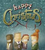 Christmas business team — Stock Photo