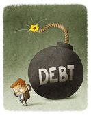 Huge debt bomb — Foto de Stock