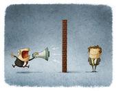 Boss and employee communication — Stock Photo