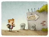 Entrepreneur sees risks to success — Stock Photo