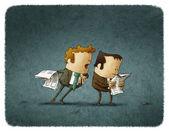 Businessmen read a newspaper — Stock Photo