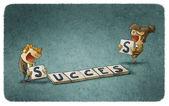 Business Success crossword — Stock Photo