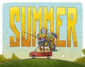 Summer family journey — Stock Photo
