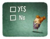 Woman take a decision — Stock Photo