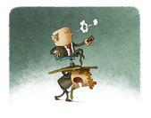 Businessman Carrying boss — Stock Photo
