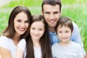 Family outdoors — Stock Photo