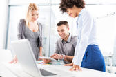 Business colleagues working in office — Stock Photo