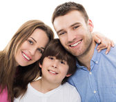 Happy family with son — Stock Photo