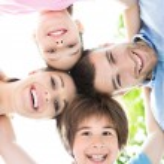 Happy young family having fun — Stock Photo #76180825