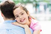 Father and daughter hugging — Stock Photo
