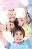 Happy young family having fun — Stock Photo