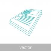 Scientific Articles  -  Stock Illustration — Stock Vector