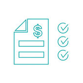 Tax Statement Icon - Concept for business and finance. Concepts for taxes, finance, bookkeeping, accounting, business, market etc. — Stock Photo
