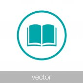 Publishing concept icon. Book concept icon. Stock illustration flat design icon. — Stock Vector