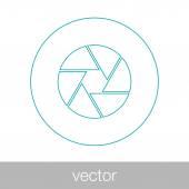 Camera sluiter concept pictogram. Stock Illustratie platte ontwerp pictogram — Stockvector