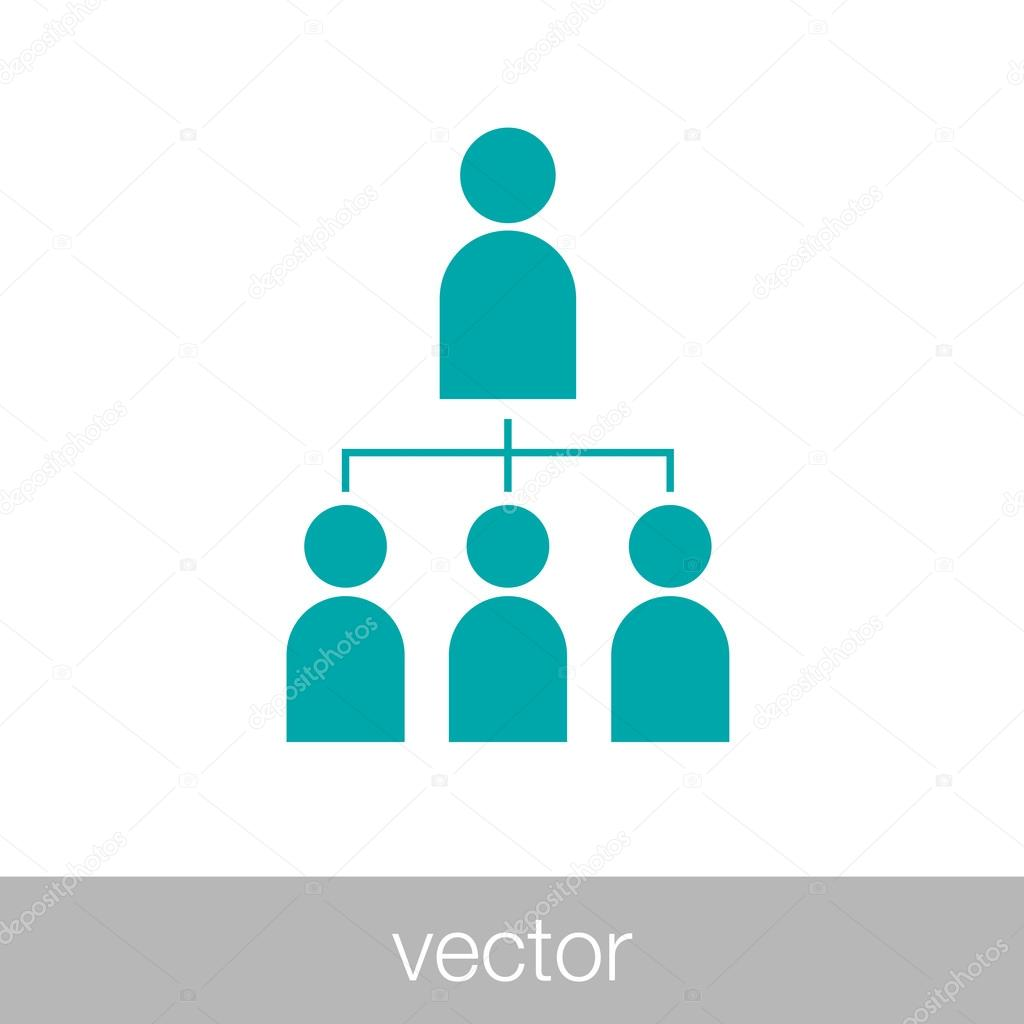 abstract business network icon abstract human resources manage abstract business network icon abstract human resources manage stock illustration