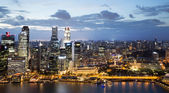 Financial district of Singapore by the bay waterside — Stock Photo
